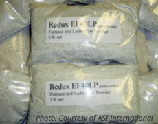 REDUX®-EF40LP Powder Form Fast Acting Metal Cleanser and Prevents Build-up In Ladles